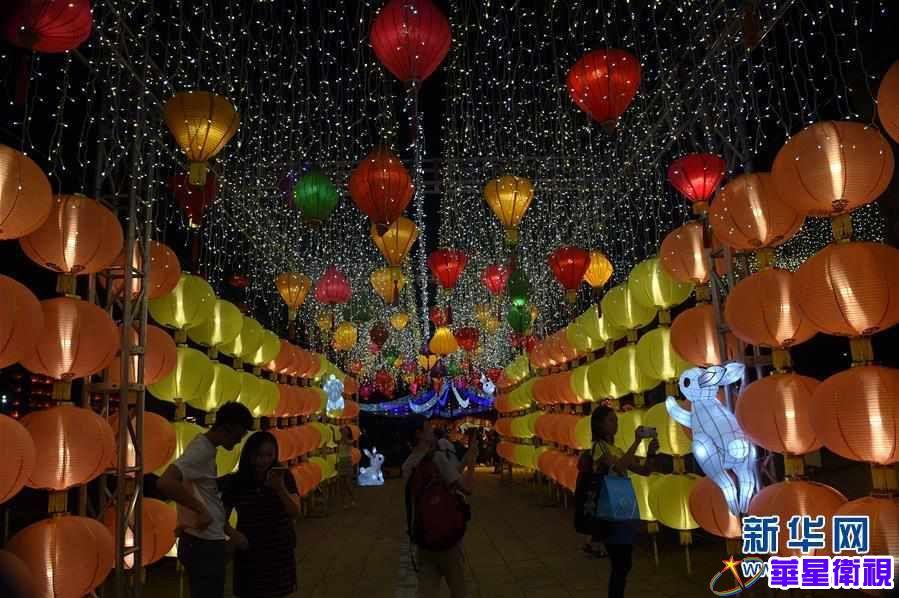 (文化)(4)香港举办中秋彩灯会