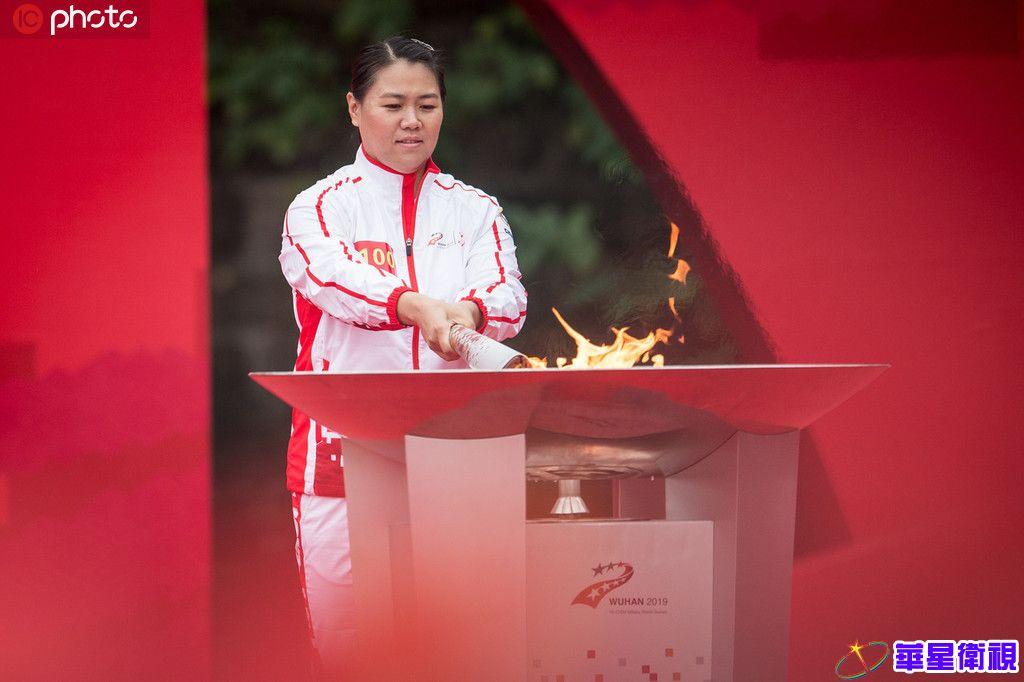 第七届世界军人运动会火炬传递仪式举行 第一棒火炬手为举重运动员廖辉
