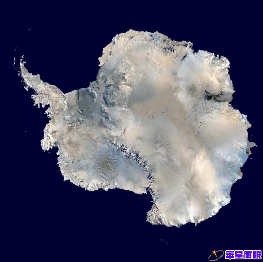 ▲图为根据卫星影像合成的南极冰盖图。图片来源:NASA