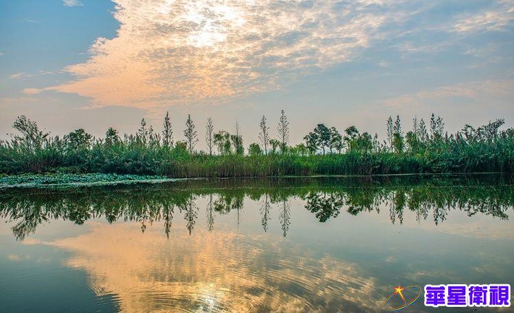 扬州北湖湿地公园:云天沧沧 秋水泱泱